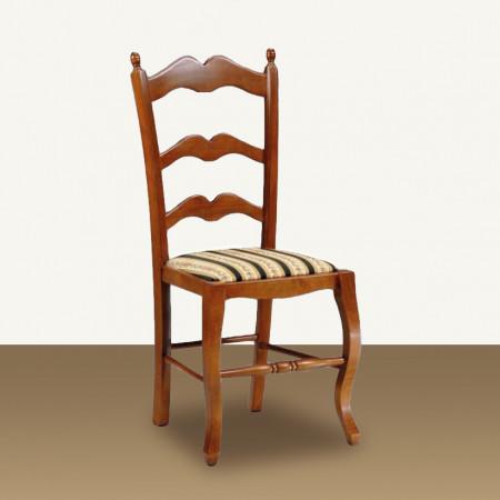 Sedia sagomata con fondino in stoffa