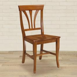 Sedia stecche sagomate fondino in legno