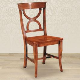 Sedia clessidra con fondino in legno