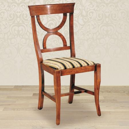 Sedia clessidra con fondino in stoffa