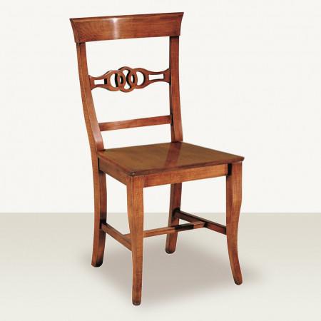 Sedia nodo con fondino in legno