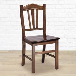 Sedia classica con fondino in legno
