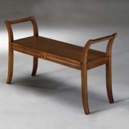 Panchetta da 113 cm con fondo in legno