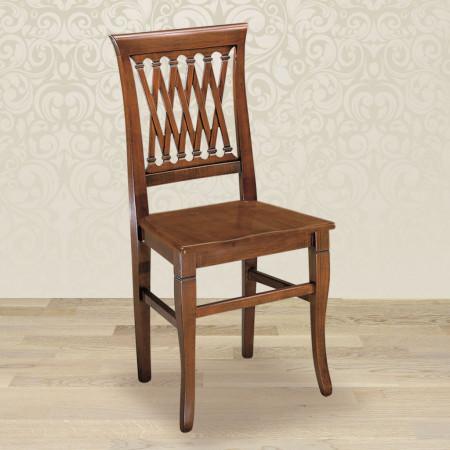 Sedia intreccio con fondino in legno