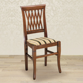 Sedia intreccio con fondino in stoffa