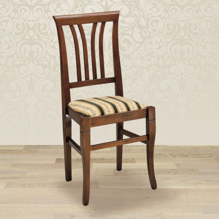 Sedia 4 stecche con fondino in stoffa