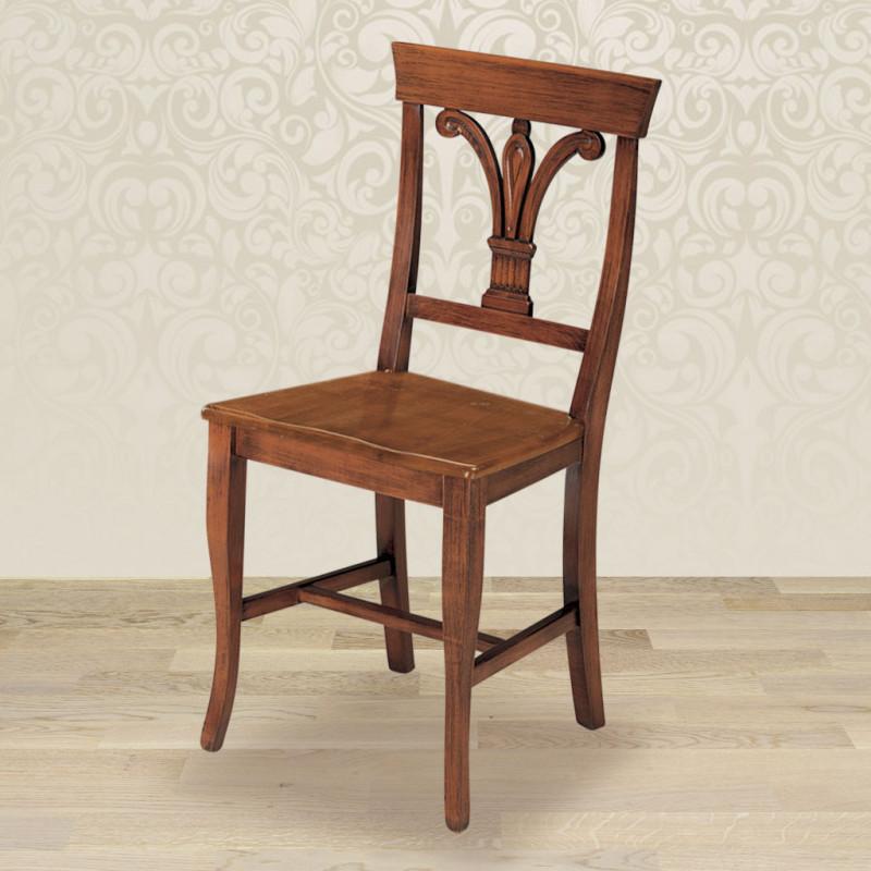Sedia giglio con fondino in legno