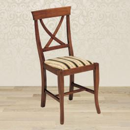 Sedia croce con fondino in stoffa