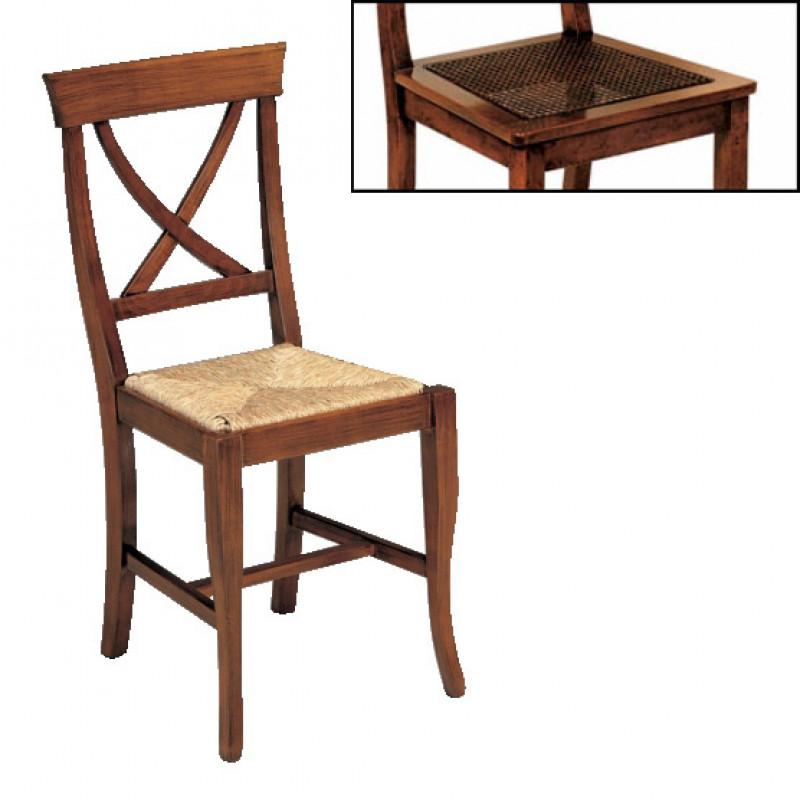 Antiche sedie in legno massello con seduta in paglia ...