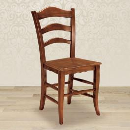 Sedia rustica con fondino in legno