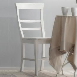 Sedia leggera con fondino in legno