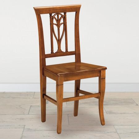 Sedia foglia con fondino in legno