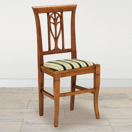 Sedia foglia con fondino in stoffa