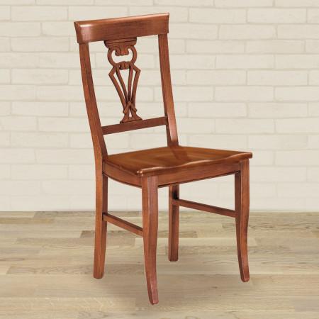 Sedia coppa con fondino in legno