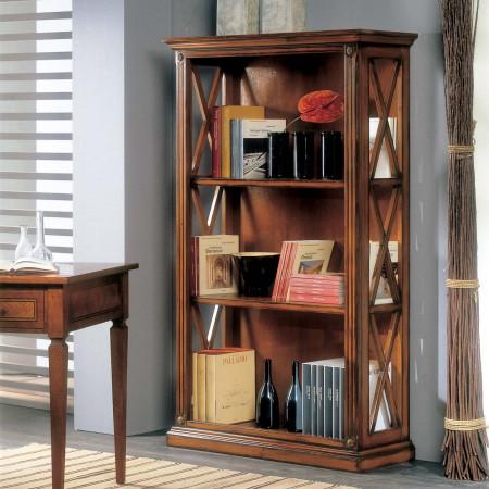 Libreria legno con griglia nei fianchi