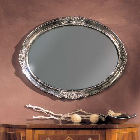 Specchiere ovali argentate