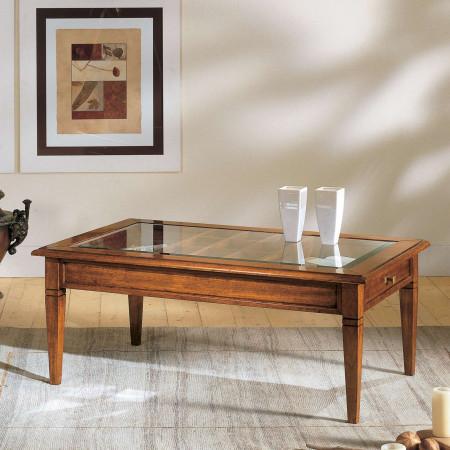 Tavolino con griglia e cassetto