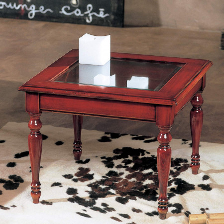 Tavolino quadrato a bacheca