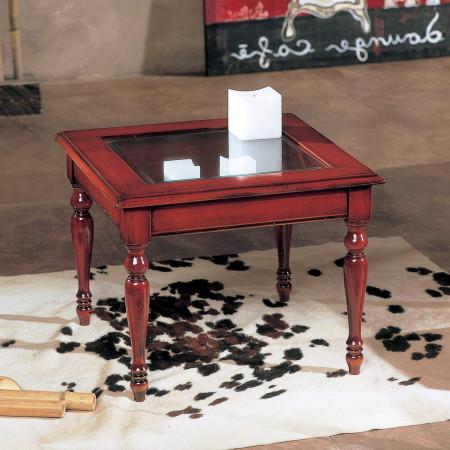 Tavolino quadrato da salotto a bacheca