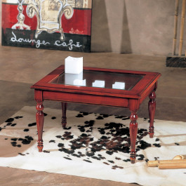 Tavolino rettangolare da salotto con bacheca