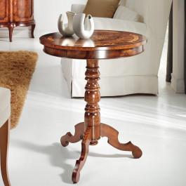 Tavolino rotondo in radica persiana