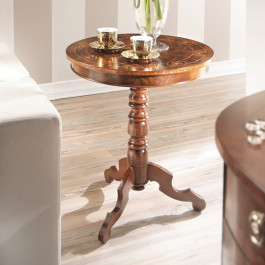 Tavolino in radica rotondo