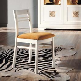 Sedia laccata con sedile imbottito