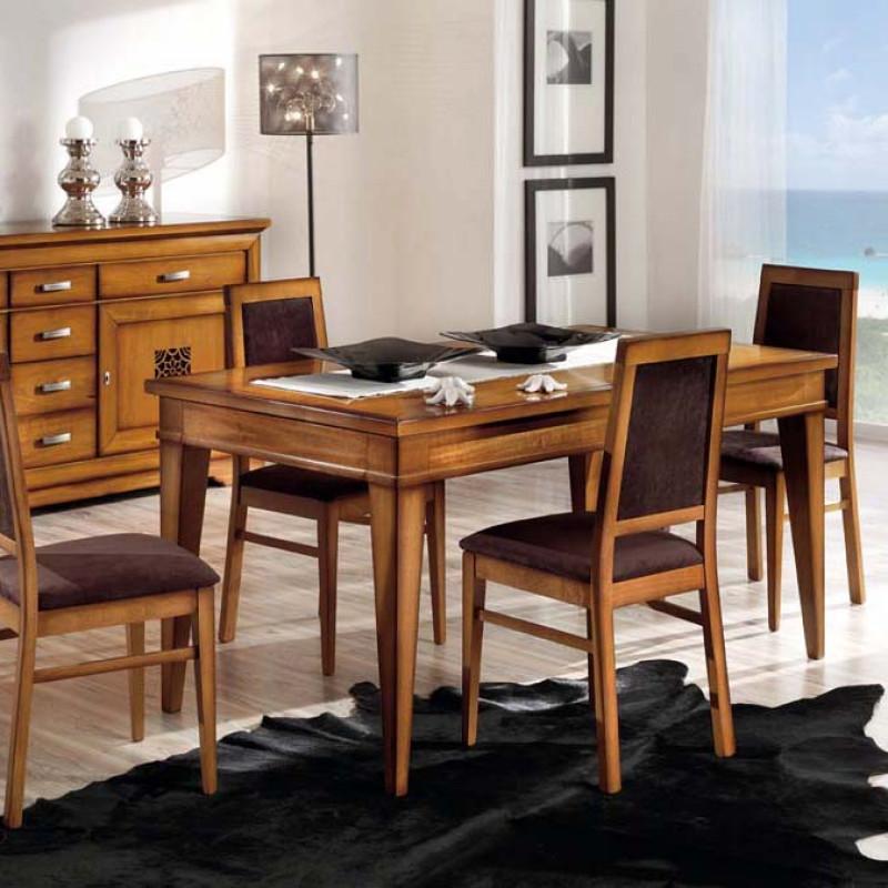 Sala da pranzo con sei sedie e trafori - Sedie sala da pranzo ...