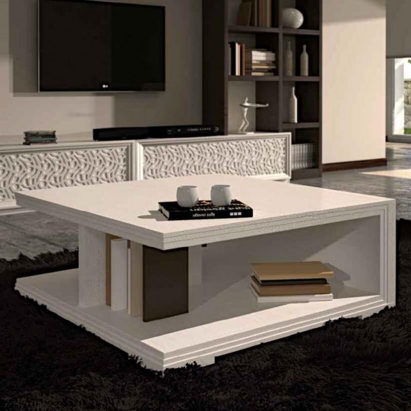 Tavolino da salotto quadrato for Tavoli moderni da salotto