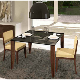Tavolo con piano vetro laccato 115x115