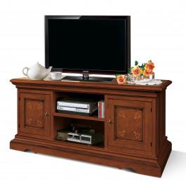 Base porta tv 2 porte con intarsio modello ragno