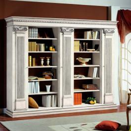 Libreria con capitelli e spalle rigate