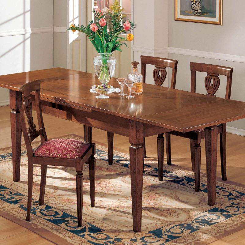 Tavolo quadrato allungabile noce 100/180x100