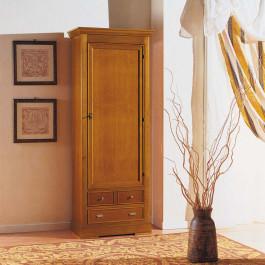 Armadietto in legno con anta e cassetti