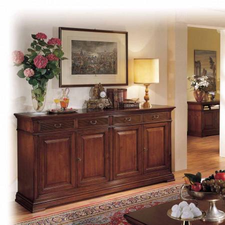 Credenza 4 ante classica in legno