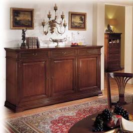 Credenza 3 ante classica in legno