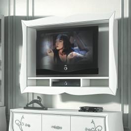 Cornice porta tv con vani decoder
