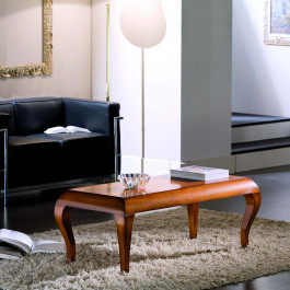 Tavolino rettangolare gambe sagomate