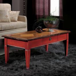 Tavolino con parquet in legno