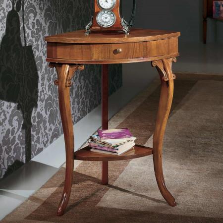 Consolle angolare classica in legno