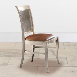 Sedia con fondino rivestito in tessuto