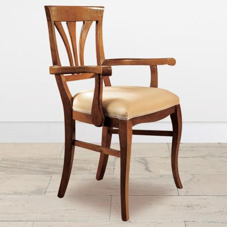 Capotavola classico in legno con seduta imbottita