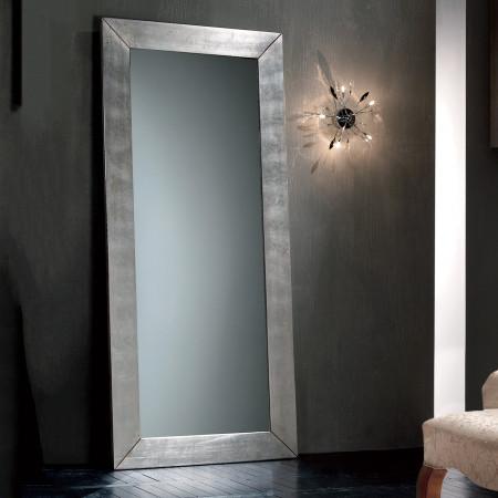 Specchiera moderna alta foglia argento