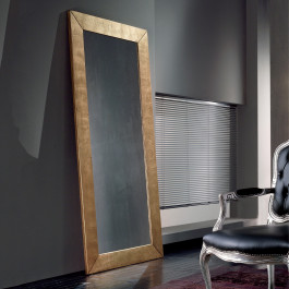 Specchiera moderna alta 200 cm dorata