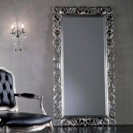 Specchiera barocca foglia argento
