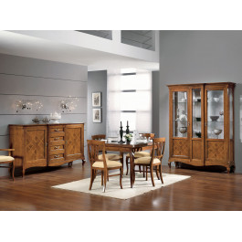 Sala ante intarsiate in legno
