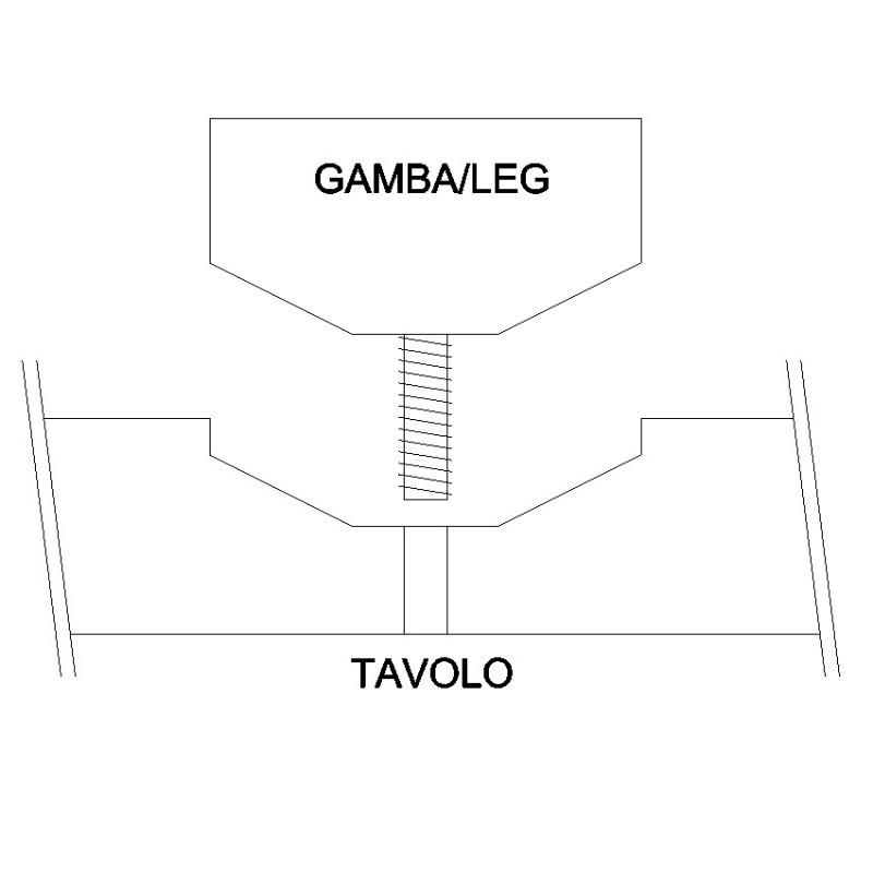 Gambe A Sciabola Per Tavoli.Set Di 4 Gambe A Sciabola In Legno Per Tavolo
