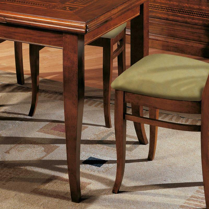 Set di 4 gambe a sciabola in legno per tavolo for Gambe di legno