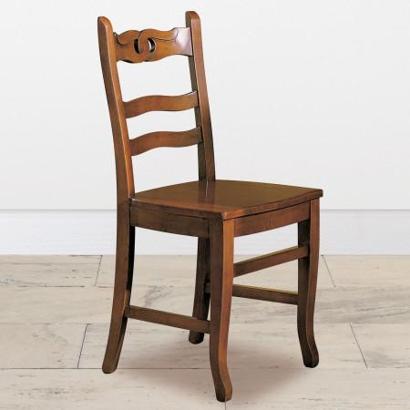 Sedia fondo in legno gambe sagomate