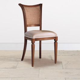 Sedia schienale paglia fondino tessuto campionario